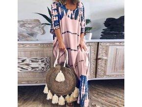 Letné maxi šaty v batikovanom štýle - veľmi pohodlné a príjemné