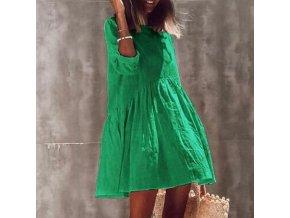Letné vzdušné jednofarebné šaty - módny hit