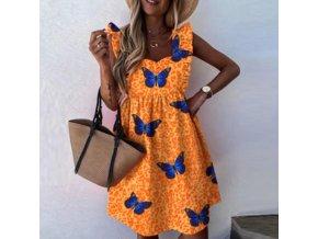 Elegantné letné šaty krásne zdobené - až 3XL