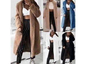 Dlhý zimný huňatý kabát - až 5XL