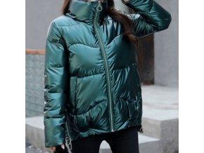 módny hit - Dámska lesklá zimná bunda