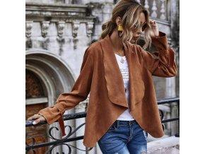 Dámska ľahká ležérne bunda v semišovom prevedení - viac farieb