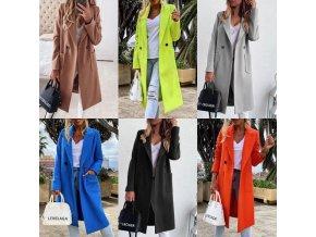 Dámsky zimný kabát s gombíkom s vreckami - viac farieb až 3XL