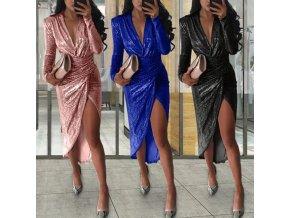 TIP - luxusné večerné trblietavé šaty vhodné na ples