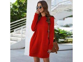 Dámske mikinové šaty s dlhým rukávom - vhodné do chladného počasia