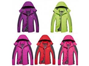 DÁMSKÁ JESENNÉ vetrové bunda s kapucňou - viac farieb až 4XL