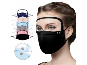 Rúško s ochranným štítom na tvár - viac farieb