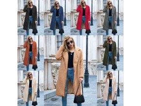 Zimný teddy kabát vo viacerých farbách - až 3XL