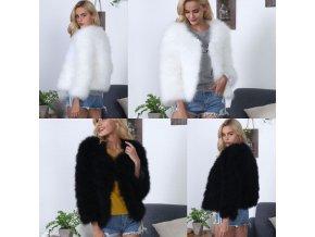 Dámsky módny chlpatý kabát vhodný na zimu - až 3XL
