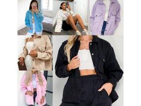 NEW - dámska módna ľahká zimná bunda s vreckami vo viacerých farbách