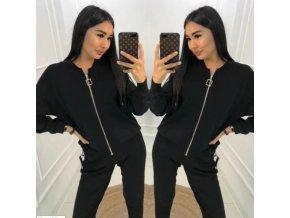 TIP - Luxusný módny set nohavice + tričko + mikina na zapínanie