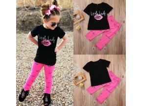 Luxusný set pre dievčatko - legíny + tričko