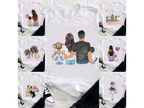 Krásna dámska tričká s potlačou v motívoch pre mamičku - až 4XL