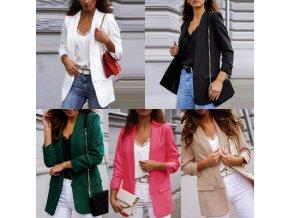 Dámske ležérny sako s vreckami v rôznych farbách