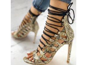 Dámske vysoké viazané sandále na ihličkovom podpätku v dvoch variantoch