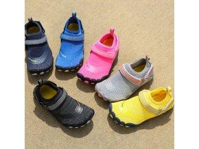 Detské pevné topánky do vody vo viacerých farbách