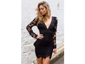 krajkové šaty čern