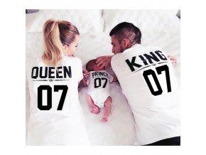 Rodinný set tričiek King + Queen