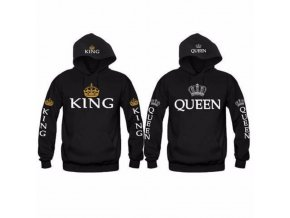 King + Queen mikina - čierna