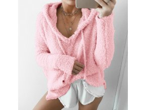Dámsky štýlový huňatý sveter - rôzne farby