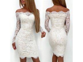 Luxusné dámske mini šaty s dlhým rukávom