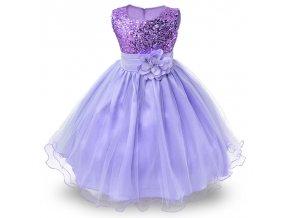 Detské šaty fialové