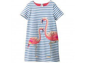 Detské šaty s plameniakmi