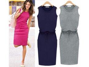 Komfortné šaty so zaväzovaním v páse