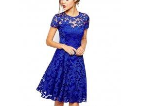 Krásne vyšívané šaty s čipkou až 5XL