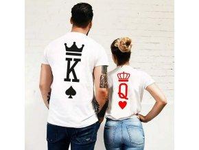 Originálne partnerská trička K + Q