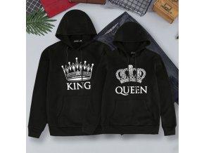 Čierne exkluzívne mikiny King + Queen