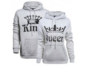 Biele exkluzívne mikiny King + Queen