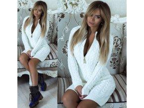 Biele pletené šaty
