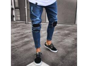 Luxusné pánske prešívané džínsy