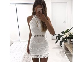 Dámske štýlové krajkové šaty