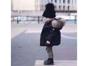 Chlapčenská zimná bunda s kožušinkou