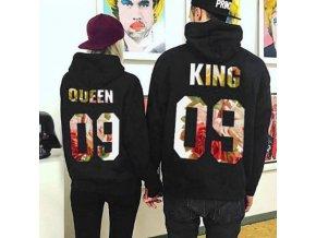 Partnerské kvetinové mikiny King a Queen