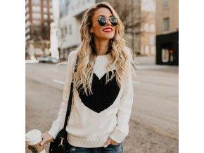 Dámsky sveter so srdcom