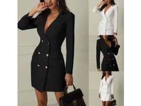 Elegantný krátky kabátik