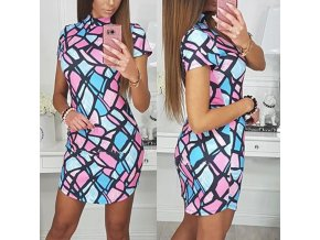 Retro šaty v pastelových farbách