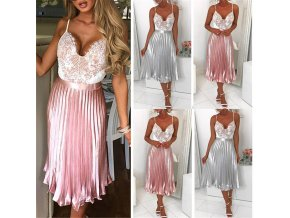 Šaty s plisovanou sukňou