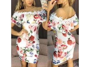 Šaty s romantickými kvetmi