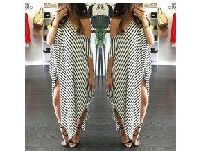 Štýlové asymetrické letné šaty