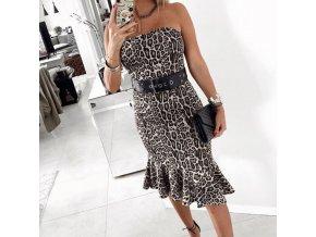 Letné korzetové šaty s leoparďou potlačou