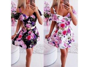EXKLUZÍVNE kvetované šaty s odhalenými ramenami