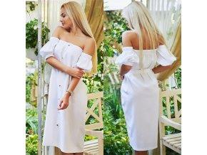Letné romantické zapínacie midi šaty