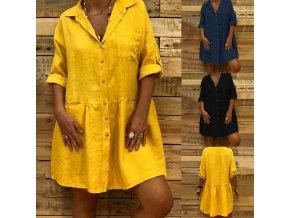 Letné košeľové oversize šaty
