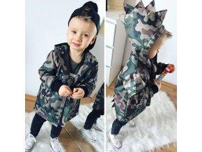 Detská maskáčová šušťáková bunda - Dinosaurus