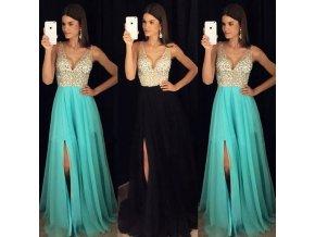Plesové šaty sa štrasovým živôtikom