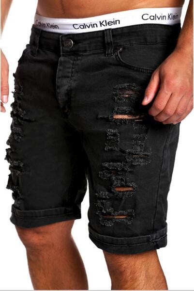 a33b8fdfe5 Luxusné pánske džínsové kraťasy trhaný štýl - OHAKNISA.SK
